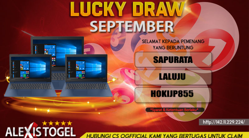 Bonus Lucky Draw ALEXISTOGEL September 2020